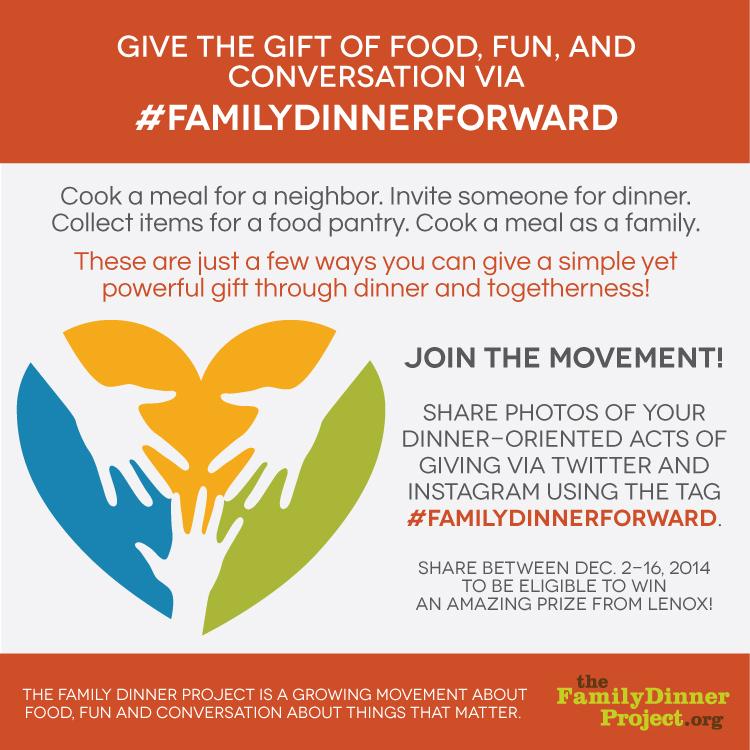#familydinnerforward-contest